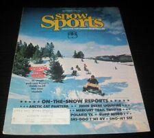 Vintage Snow Sports Snowmobile Magazine Yamaha Ski Doo Arctic Cat Polaris 1975