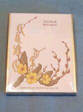 Vintage Antioch Ltd Box Of 40 Primroses And Catkins 1986 Image Bookplates-BNIB