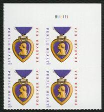 #5035 Coeur Violet, Plaque Bloc [B111111 Ur ], Excellent État Any 4 =