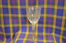 Vintage Elegant Flower Etched Crystal Stemware Wine/Water Goblet ?Fostoria Glass