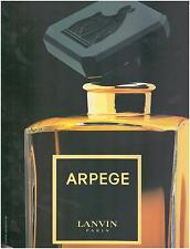 ▬► PUBLICITE ADVERTISING AD Parfum Perfume LANVIN Arpège J. L. Bloch-Lainé 1991