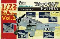 """1/72 WW2 Fighter : Focke Wulf FW-190A """"Full Action Vol 3 """" [Germany] : F-TOYS"""