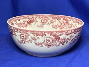 Spode china Delamere Cranberry pattern salad bowl