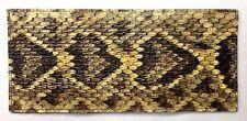 Genuine Eastern Diamondback Rattlesnake Snake Skin Trifold Wallet