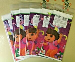 NEW Dora the Explorer Flower Plastic Table Cover 54x96 (PACK OF 6) - FREE SHIP!!