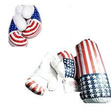 Sacco Pugilato Guantoni Boxe Kick Boxing Muay Thai Pugile Bandiera America 282