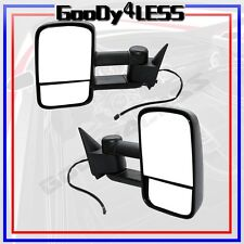 88-98 Chevy GMC C/K 1500 2500 Suburban Tahoe YukonTowing Power Mirrors Set Tow