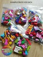 LEGO FRIENDS ACESSORIES - X60 PC'S FOR MINIFIGURES MASSIVE VARIETY GREAT MIX