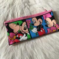 Mickey Mouse & Minnie Mouse Pencil Zip Case Vintage Disney Vintage Collectable