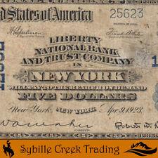 1902 $5 NEW YORK, NY NATIONAL BANK NOTE *LIBERTY NATIONAL BANK*