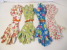 Large Lot 8 Pairs Palm & Finger Coated Mesh Back Floral Gardening Work Gloves