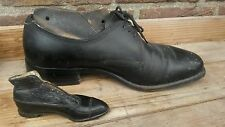 """Very Rare,Antique 4.8"""" Salesman sample leather dress shoe and mold last -1900"""