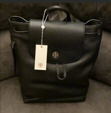 Tory Burch Brody Black Pebble Leather Backpack 43508