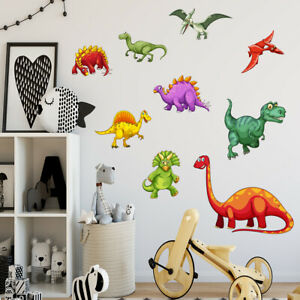 Cartoon Dinosaur Wall Sticker Colorful Baby Nursery Room Art Decal Gift