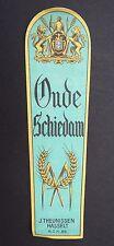 Ancienne étiquette bière OUDE SCHIEDAM THEUNISSEN HASSELT old bier label