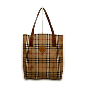 Burberrys Tote Bag  Light Brown PVC 2004551