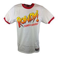 Rowdy Ronda Rousey WWE Authentic Mens White T-Shirt