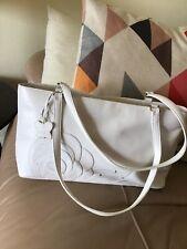 Large Ladies White Leather Tula By Radley Shoulder Bag