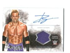 WWE Zack Ryder 2015 Topps Undisputed Authentic Autograph Shirt Relic Card FD30