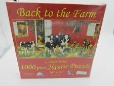 1000 Pieces Back to the Farm by Linda Picken 16x34 Jigsaw Puzzle, Eco-Friendly