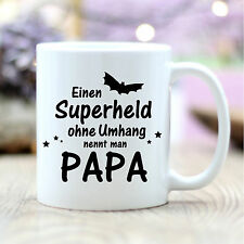 T253 Wandtattoo-Loft Kaffee Papa Superheld Ohne Umhang Hero Vatertag Geschenk