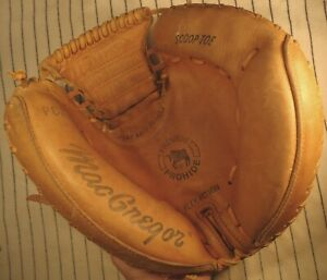 1980's topline Macgregor PS2 Premium Pro Hide baseball catchers mitt glove USA