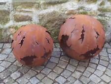 Edelrost Kugel  Riss 50 cm Dekoration Garten Säule Pflanzschale Beet Weltkugel
