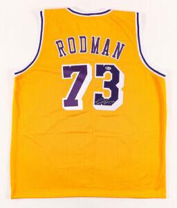 Dennis Rodman Signed Los Angeles Lakers Jersey (Beckett COA) 5xNBA Champion