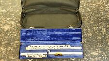 Gemeinhardt Custom Solid Silver Open Hole Flute gold lip with 2 cases