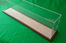 "42"" Clear Acrylic Table top Display case box for Fireplace Mantel wooden base"