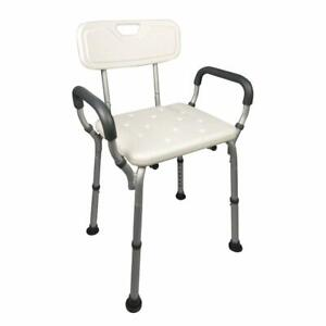 Homecraft Shower Chair w/ Back & Padded Removable Arms    Capacity 300 pounds