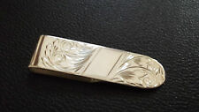 925 Sterling Silver Patterned Money Clip