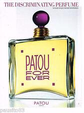 PUBLICITE ADVERTISING 065  1998  JEAN PATOU parfum femme FOR EVER