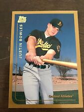 1999 Topps Traded Justin Bowles Oakland A's  T7