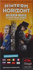 Flyer: Musical  HINTERM HORIZONT - Das Musical über das Mädchen aus Ostberlin