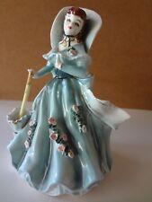 Vintage 1957 Geo. Z. Lefton porcelain victorian lady with planter back..signed
