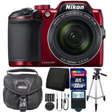 Nikon COOLPIX B500 16MP Wi-Fi & NFC Digital Camera Red + 32GB Accessory Kit