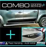BONNET & DOOR stripes fit 2015 - 2019 Nissan Navara NP300 decals stickers 4x4