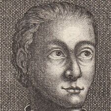 Portrait XVIIIe Wenceslas d' Autriche Wenzel von Österreich Ordre de Malte 1744