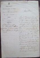 1872 145) LETTERA DA FONTAINEMORE (AOSTA) A VERRES SU MANCANZAMAESTRI IN CITTA'