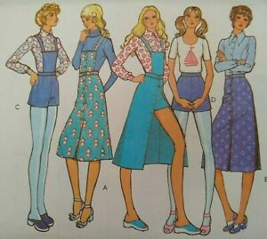 """Vintage 1970s Style Skirts, Shorts Blouse Sewing Pattern 3251 Bust 32.5"""" 83cm"""