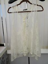 Stunning Ladies Cream Lace ( cover over top) Size22