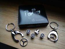 Orig. Mercedes Benz Ventilkappen für Alufelgen + 2 Schlüsselanhänger Stern AMG