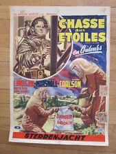 RIDERS TO THE STARS Original 1954 Belgian poster sci fi  Richard Carlson