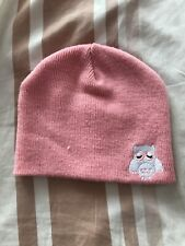 Girls Pink Owl Hat 2-7 Years