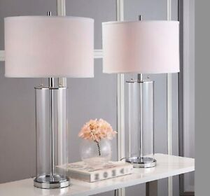 New Safavieh Velma Table Lamps in Clear (Set of 2) 31''