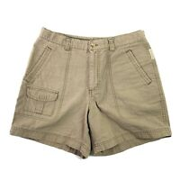 Columbia Womens Beige Brown Hiking Casual Camping Shorts Size 10 Inseam 5