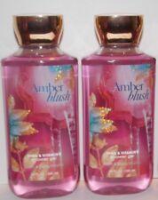 2 Bath & Body Works Signature Collection Amber Blush Shower Gel Shea vitamin E