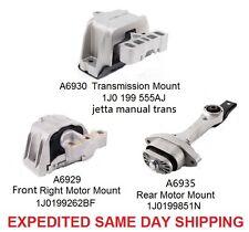 Engine Motor Manual Trans Mount Set KIT 3pc 6929 6930 6935 BEETLE GOLF JETTA MK4