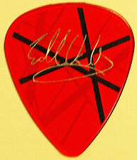 VAN HALEN 2004 Concert Tour Guitar Pick EVH Frankenstrat Red White Black Stripes